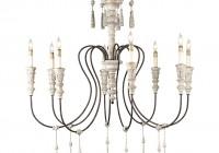 antique white wood chandelier