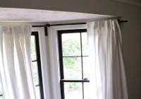Bay Window Curtains Straight Across