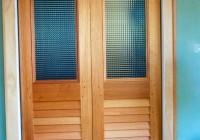 bi fold glass closet doors