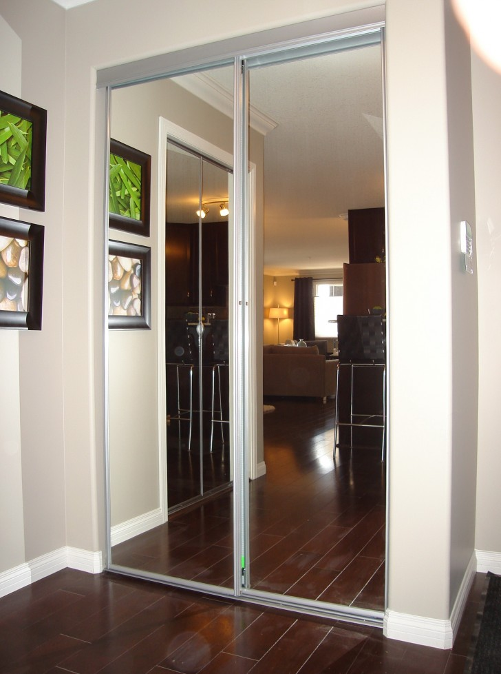 Permalink to Bifold Mirrored Closet Doors Lowes