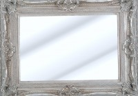 Big Silver Framed Mirror