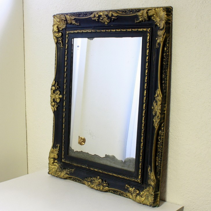 Permalink to Black And Gold Wall Mirror