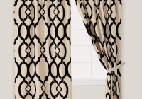 black and ivory curtain panels