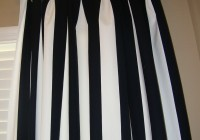 Black And Off White Curtains