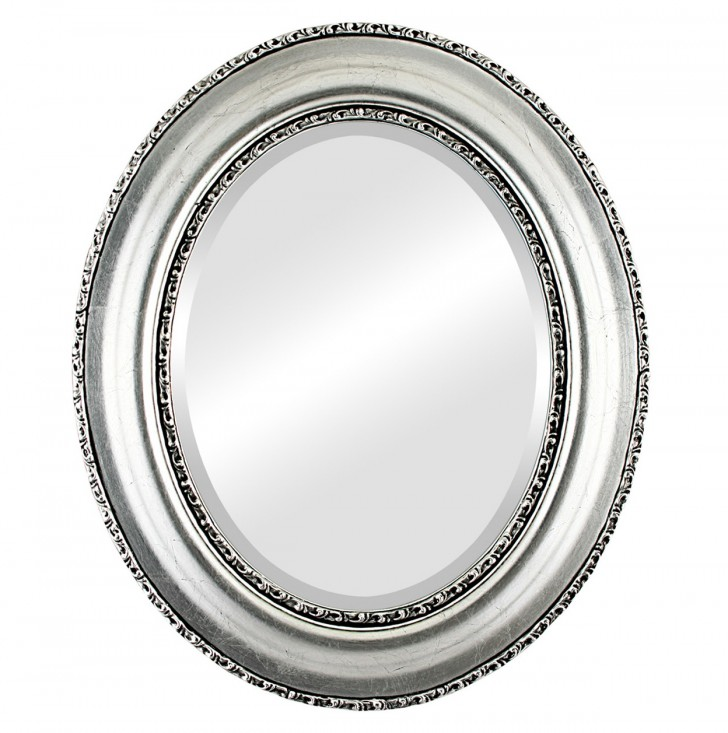 Permalink to Black And Silver Framed Mirror