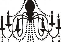 black and white chandelier clip art