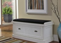 Black And White Storage Bench