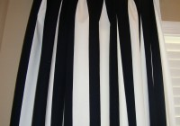 Black And White Striped Window Curtains