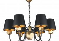 Black Chandelier Shades With Gold Lining
