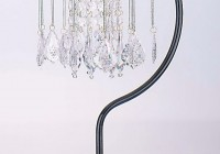 black chandelier table lamp