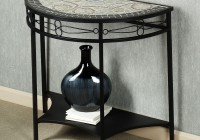 black console table decor