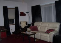 Black Curtains In Living Room
