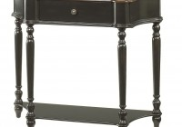 Black Distressed Console Table