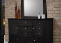 Black Dresser With Mirror Set