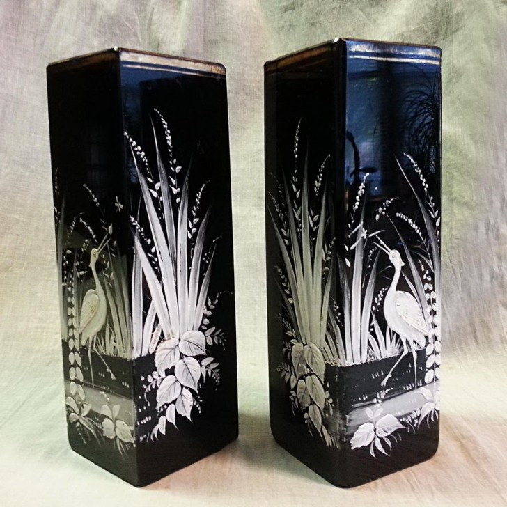Permalink to Black Glass Vases For Sale