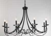black iron chandelier lighting