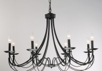 Black Iron Chandelier With Shades
