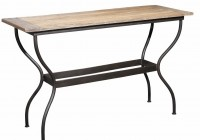 Black Iron Console Table