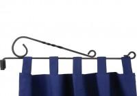 Black Iron Curtain Rod