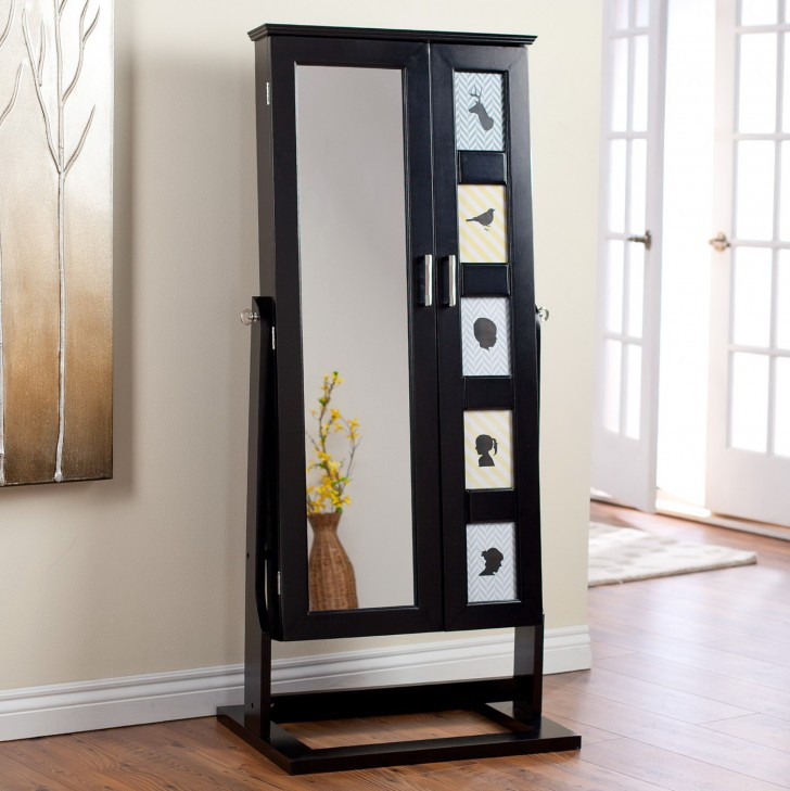 Permalink to Black Jewelry Armoire Mirror