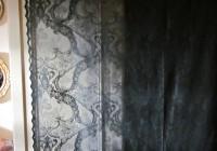 black lace curtain panels