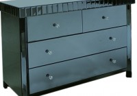 Black Mirrored Chest Of Drawers