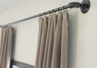 black pipe curtain rods