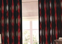 Black Red And Cream Curtains