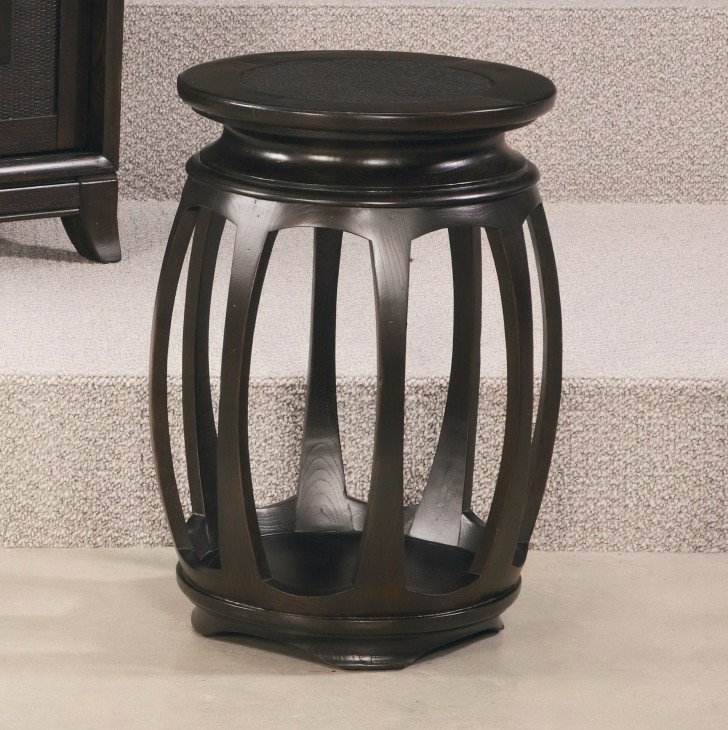 Permalink to Black Round Accent Table