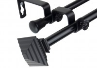Black Square Curtain Rod
