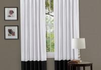 Black White Curtains Living Room