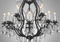 Black Wrought Iron Crystal Chandelier