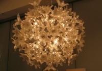 blown glass ball chandelier