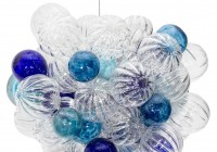 blown glass bubble chandelier