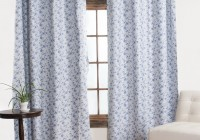 blue and white blackout curtains