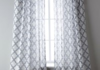 blue and white sheer curtains