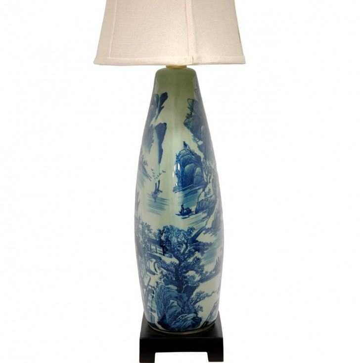 Permalink to Blue And White Vase Lamp