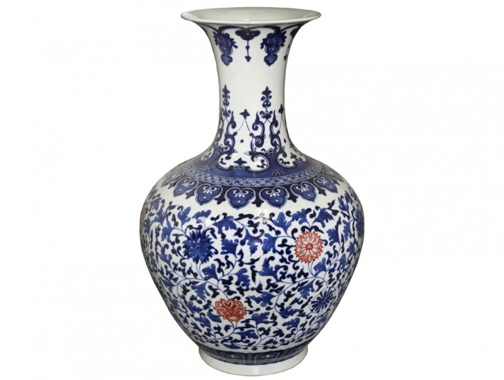 Permalink to Blue And White Vase Made In China