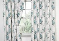 Blue Floral Curtain Panels