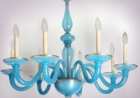 Blue Glass Chandelier Lights