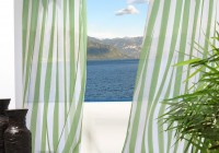 Blue Green And White Curtains