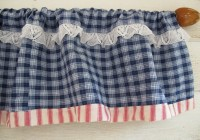 Blue Plaid Curtain Panels