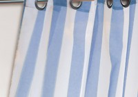 Blue Striped Kitchen Curtains