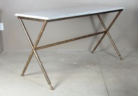 Brass And Marble Console Table