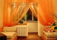 Bright Colored Sheer Curtains