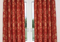 Bright Red Curtain Panels