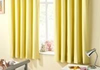 Bright Yellow Curtain Panels