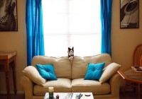 Brown And Blue Living Room Curtains