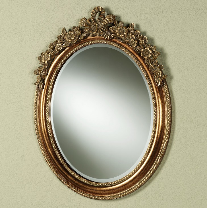 Permalink to Brushed Gold Wall Mirror