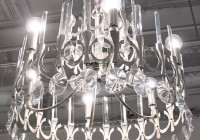 Brushed Nickel Chandelier With Crystals